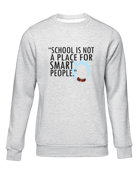 not for smart people grey sweater