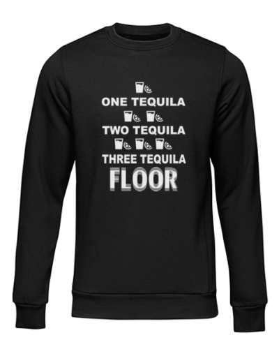 one tequila two tequila black sweater