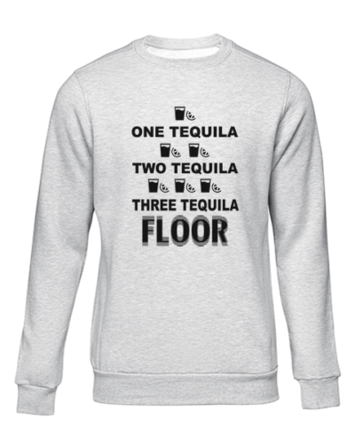 one tequila two tequila grey sweater