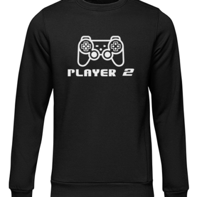 player 2 black sweater