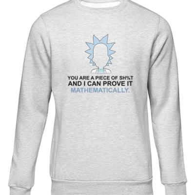 prove it mathematically grey sweater