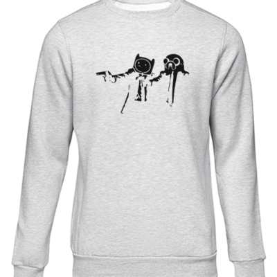 pulp fiction adventure grey sweater