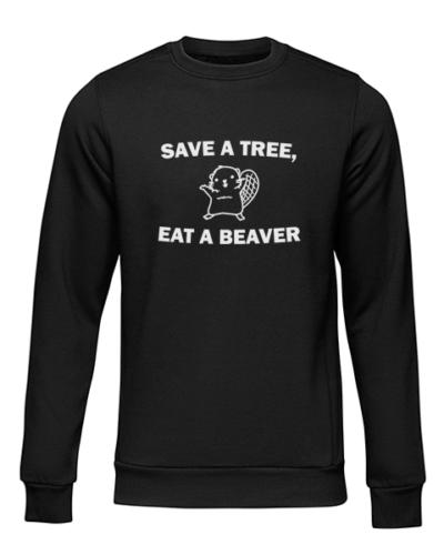 save a tree black sweater