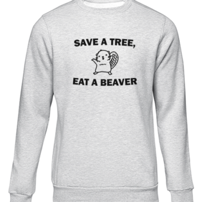 save a tree grey sweater