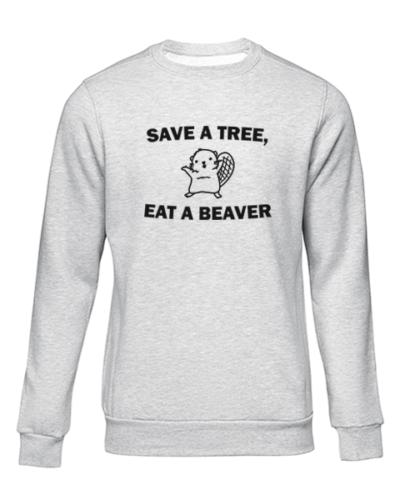 save a tree grey sweater