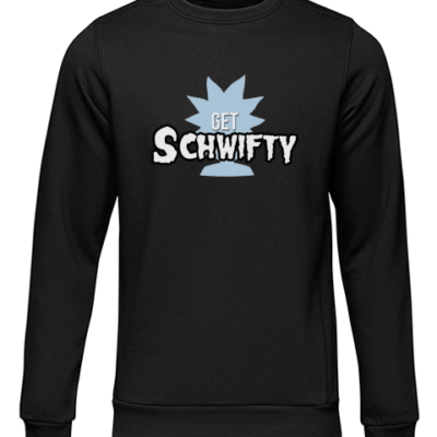 schwifty black sweater