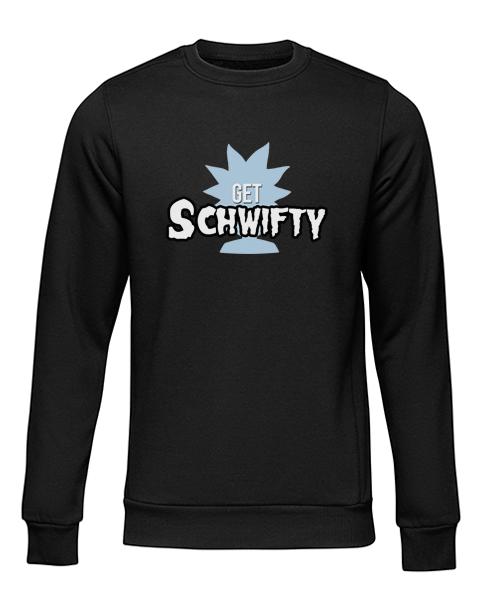 schwifty black sweater