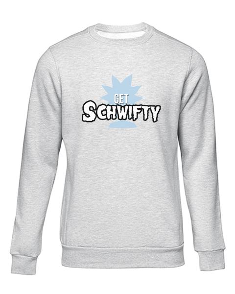 schwifty grey sweater