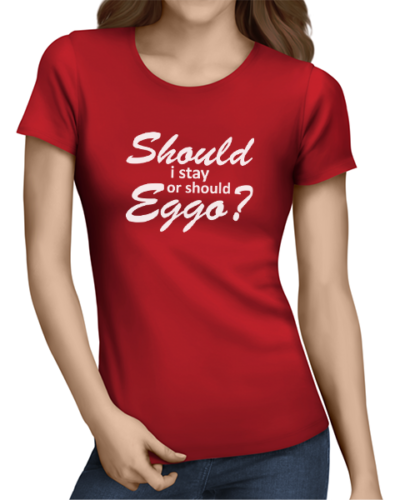 should i stay ladies tshirt red