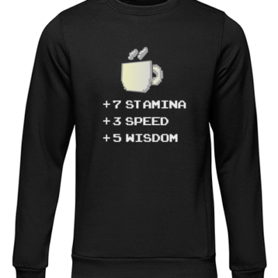 stamina speed wisdom black sweater