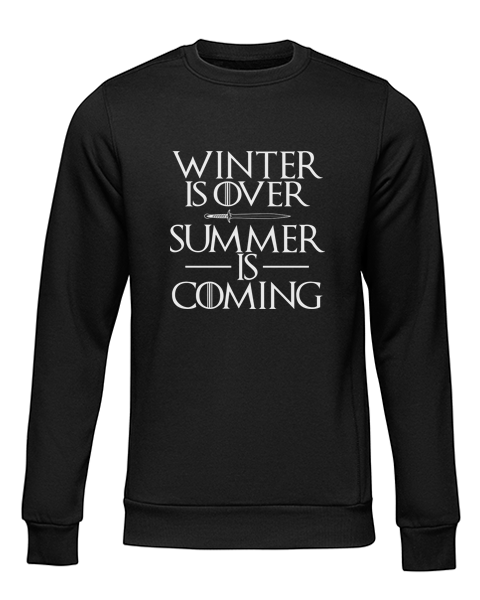 summer is coming black sweater