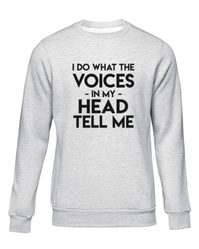 the voices grey sweater