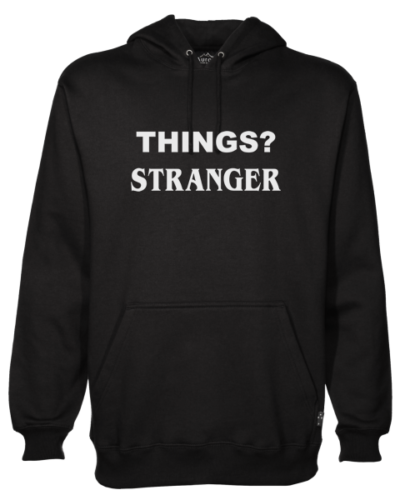things stranger Black Hoodie jb