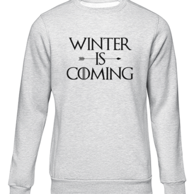 winter is coming grey sweater