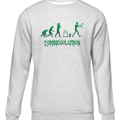 zombievolution grey sweater