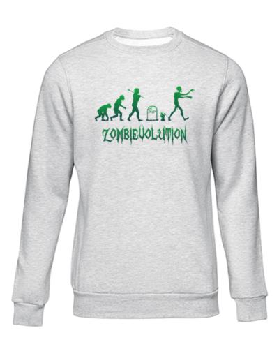 zombievolution grey sweater