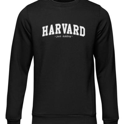 harvard just kidding black sweater