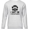 i dont die i respawn grey sweater