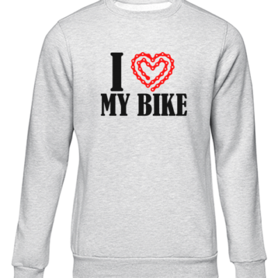 i heart my bike grey sweater