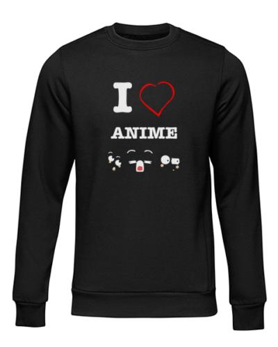 i love anime black sweater