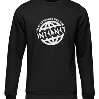 i play for the internet black sweater