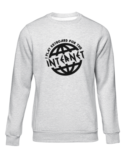 i play for the internet grey sweater