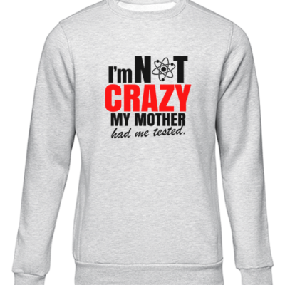 im not crazy grey sweater