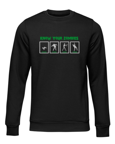know your zombies black sweater