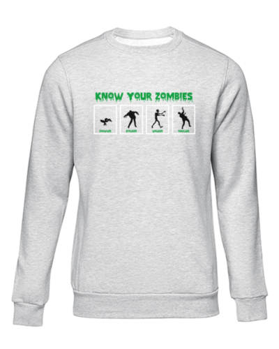 know your zombies grey sweater