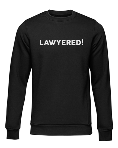 lawyered black sweater