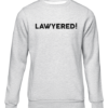 lawyered grey sweater