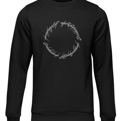 lord of the rings script black sweater