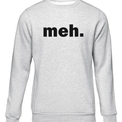 meh grey sweater