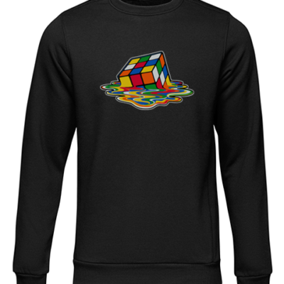 melking rubiks cube black sweater