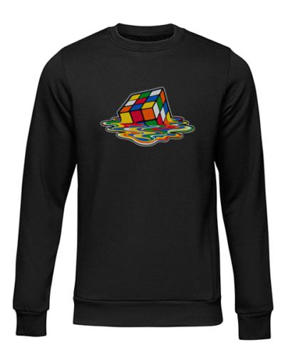 melking rubiks cube black sweater