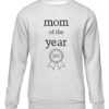 mom of the year grey sweater