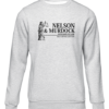 nelson and murdock avocados grey sweater