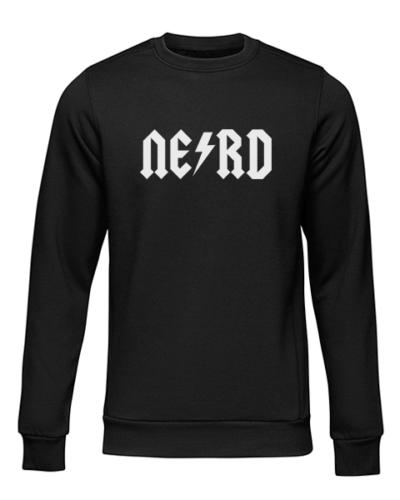 nerd 1 black sweater