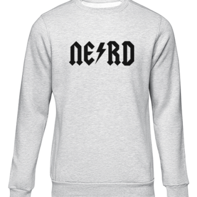 nerd 1 grey sweater