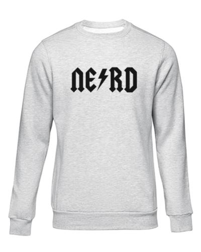 nerd 1 grey sweater