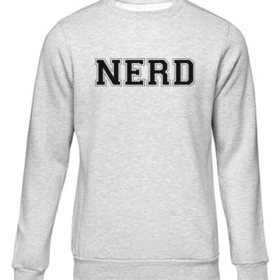 nerd grey sweater