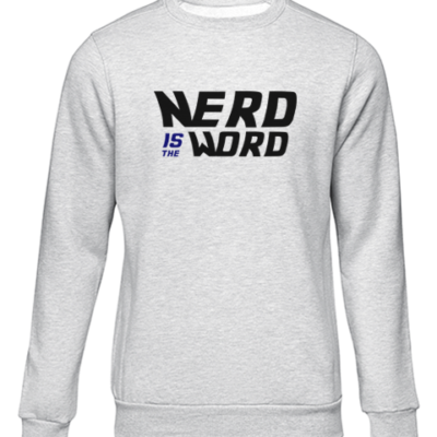 nerd is the word grey sweater