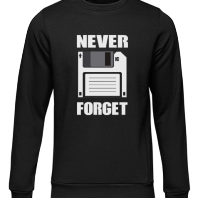 never forget black sweater