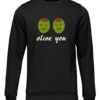 olive you black sweater