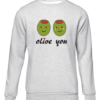 olive you grey sweater