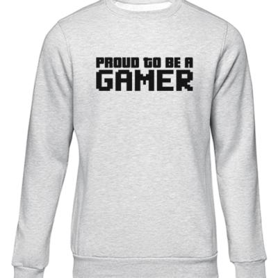 proud to be a gamer grey sweater