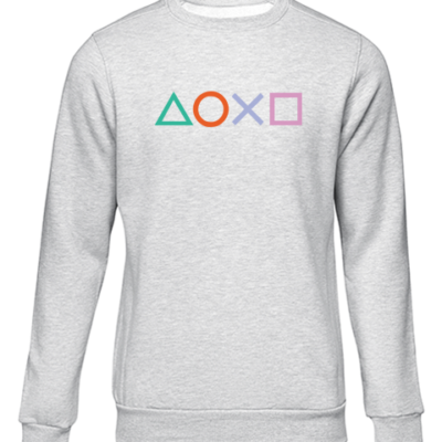 ps4 buttons grey sweater