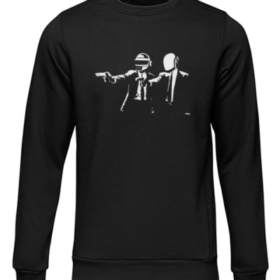 pulp fiction daft punk black sweater