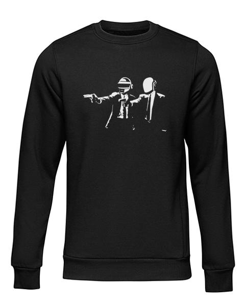 pulp fiction daft punk black sweater