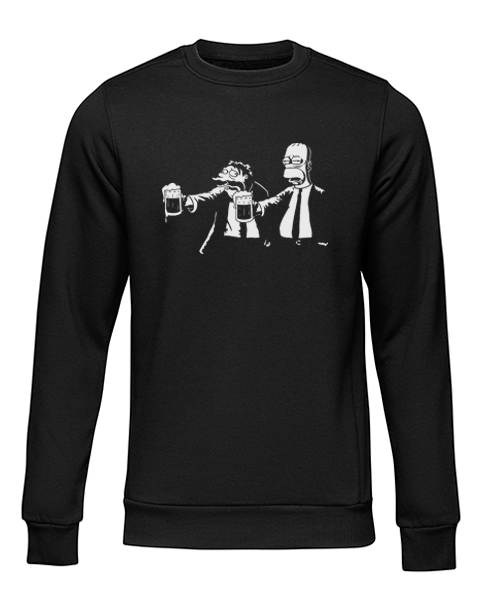 pulp fiction simpsons black sweater